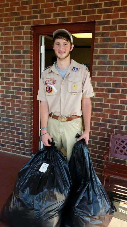 Eagle Scout Collects Donations