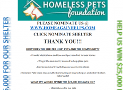 Help our Shelter Win $25,000